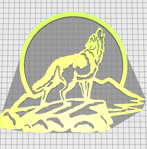 loup.PNG Download free STL file decorative wolf • Template to 3D print, Justinclaes