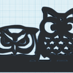 Download free 3D printer files decorative owl, Justinclaes
