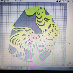 3D print files rooster wall decoration, Justinclaes