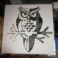 3D printer files owl stencil, Justinclaes