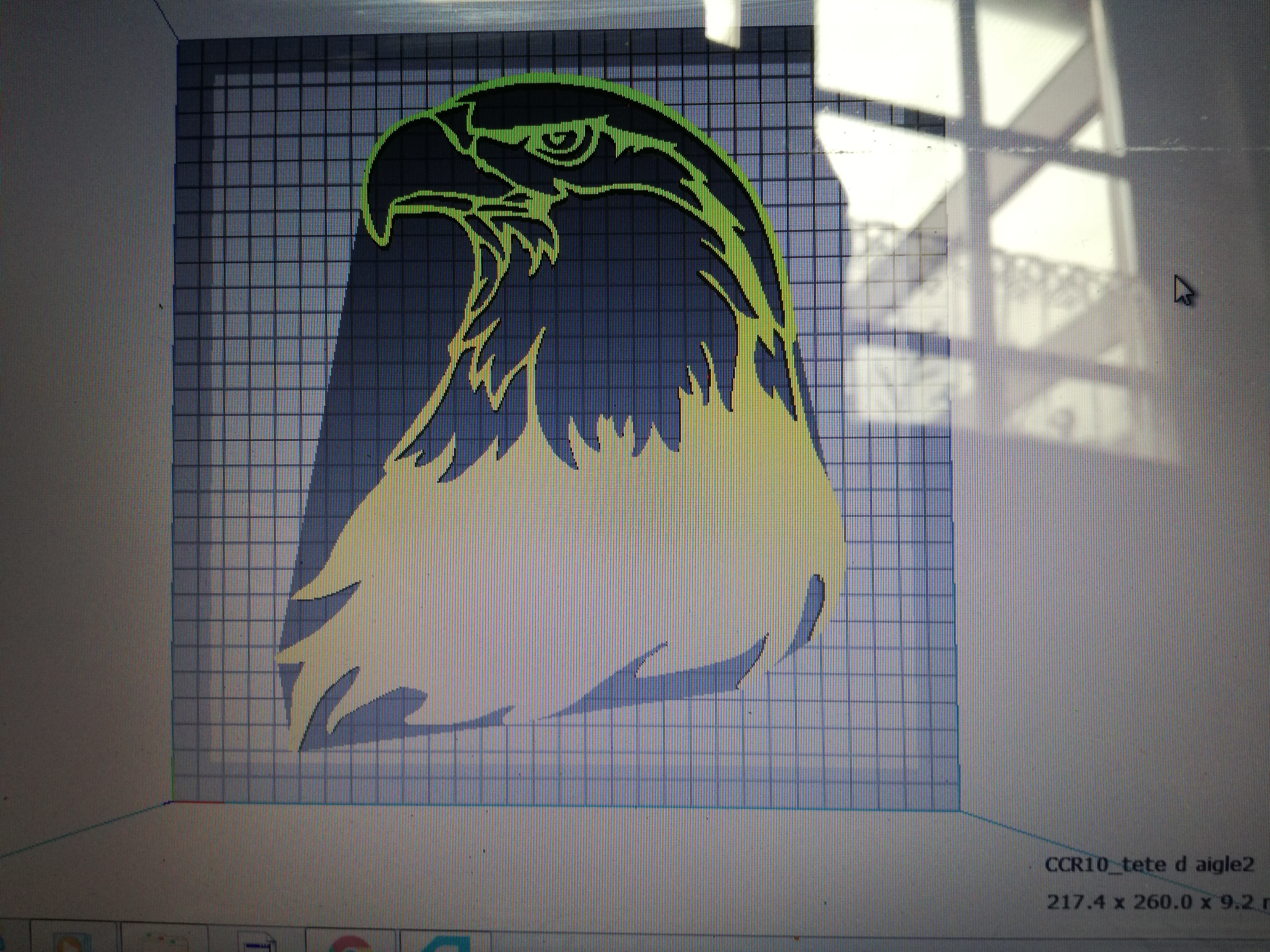 IMG_20180905_160036[1].jpg Download free STL file eagle's head • 3D printable object, Justinclaes