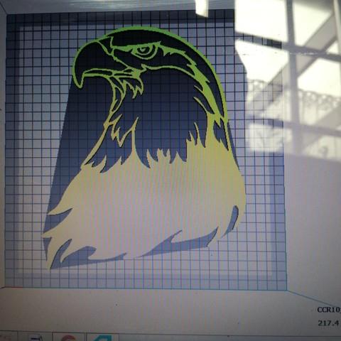 Download free 3D print files eagle's head, Justinclaes