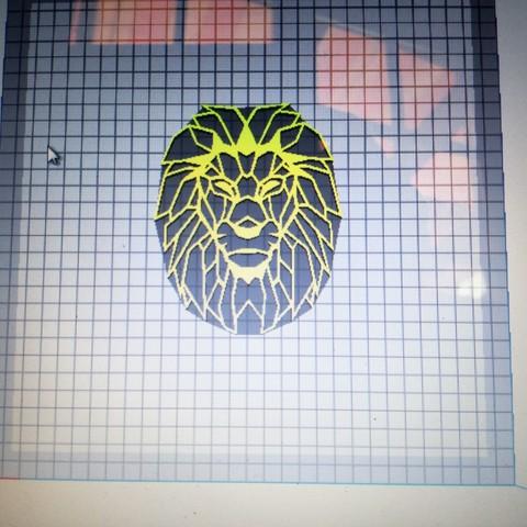 Download 3D model lion's head, Justinclaes
