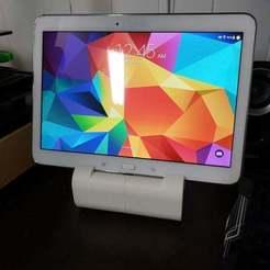 """20190107_004550.jpg Télécharger fichier STL gratuit Samsung Galaxy Tab 4 10.1"""" Dock • Modèle imprimable en 3D, madizmo"""