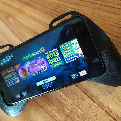 IMG_20191121_170426.jpg Download STL file Gaming Grip for Smartphones • 3D printing template, SOLIDMaker3D