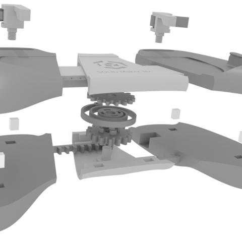FRAGMENT.png Download STL file Gaming Grip for Smartphones • 3D printing template, SOLIDMaker3D