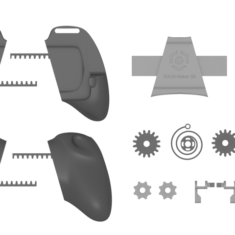 TOP.PNG Download STL file Gaming Grip for Smartphones • 3D printing template, SOLIDMaker3D