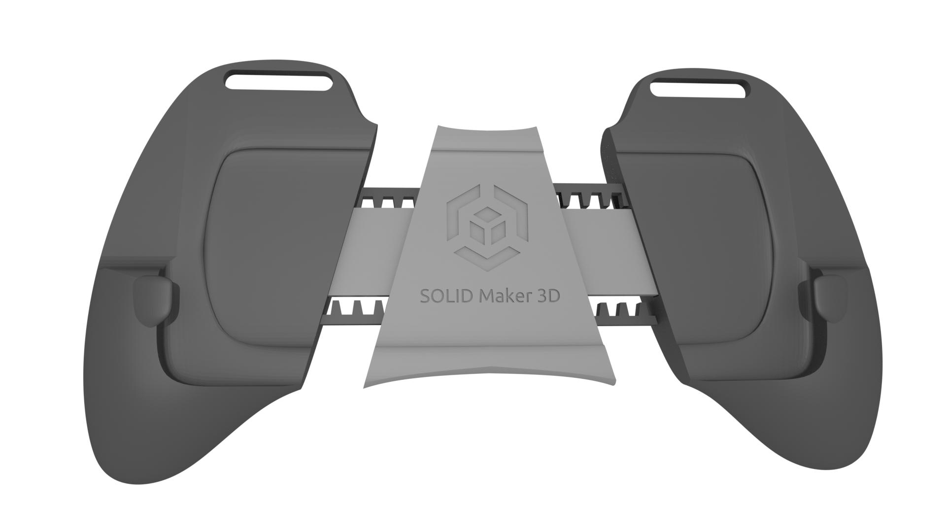 medidas.png Download STL file Gaming Grip for Smartphones • 3D printing template, SOLIDMaker3D