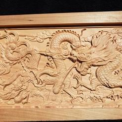 STL gratuit dragons 3d wall, Johnbo