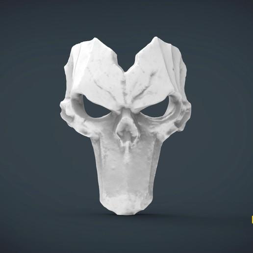Télécharger fichier STL gratuit Death Mask darksiders- à porter en taille réelle, Helios3D