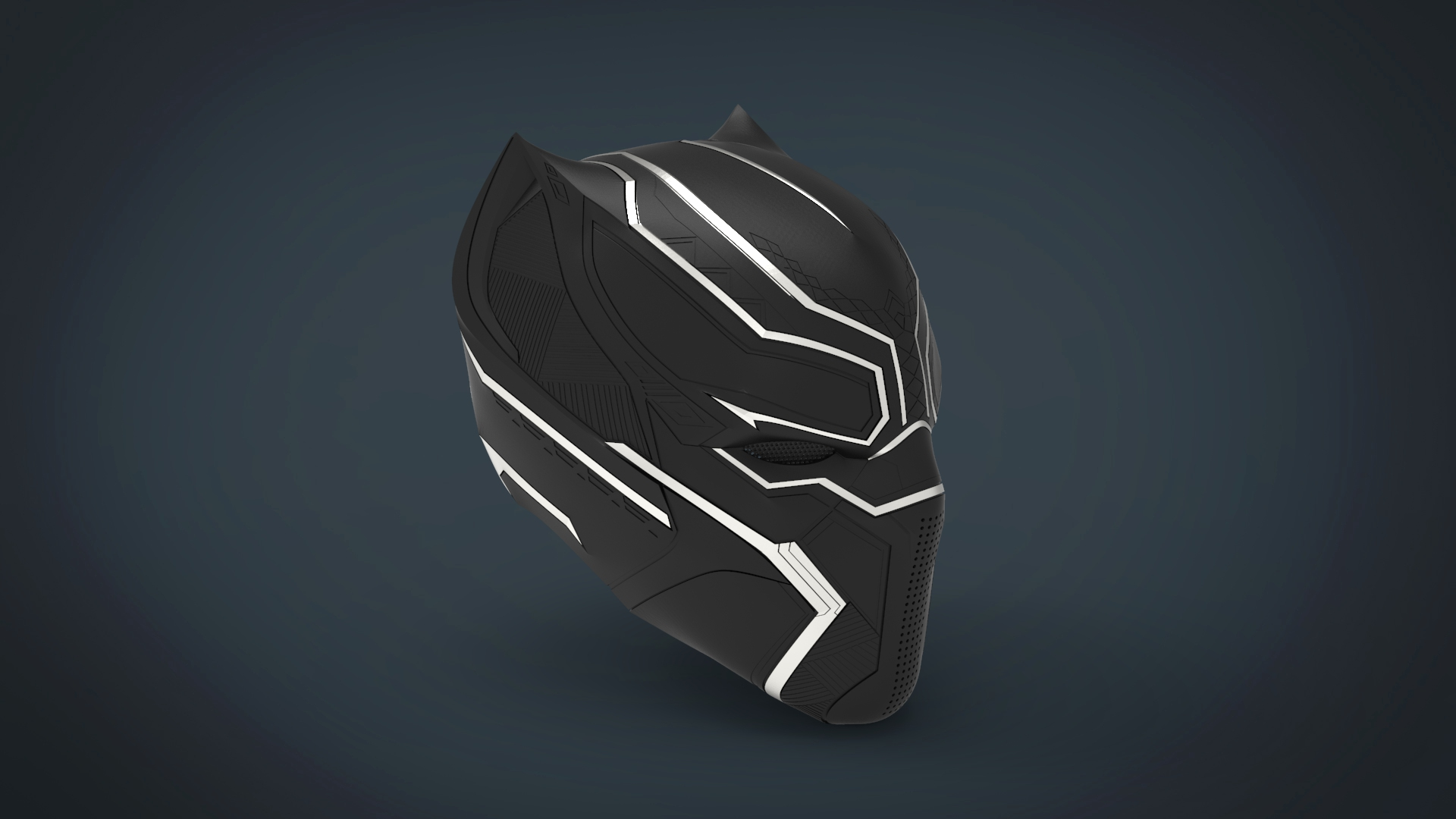untitled.226.jpg Télécharger fichier STL gratuit Casque Panthère noire - portable grandeur nature • Plan pour imprimante 3D, Helios3D