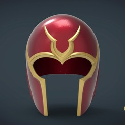 Descargar Modelos 3D para imprimir gratis Casco Magneto days of the future past - tamaño natural para llevar puesto, Helios3D