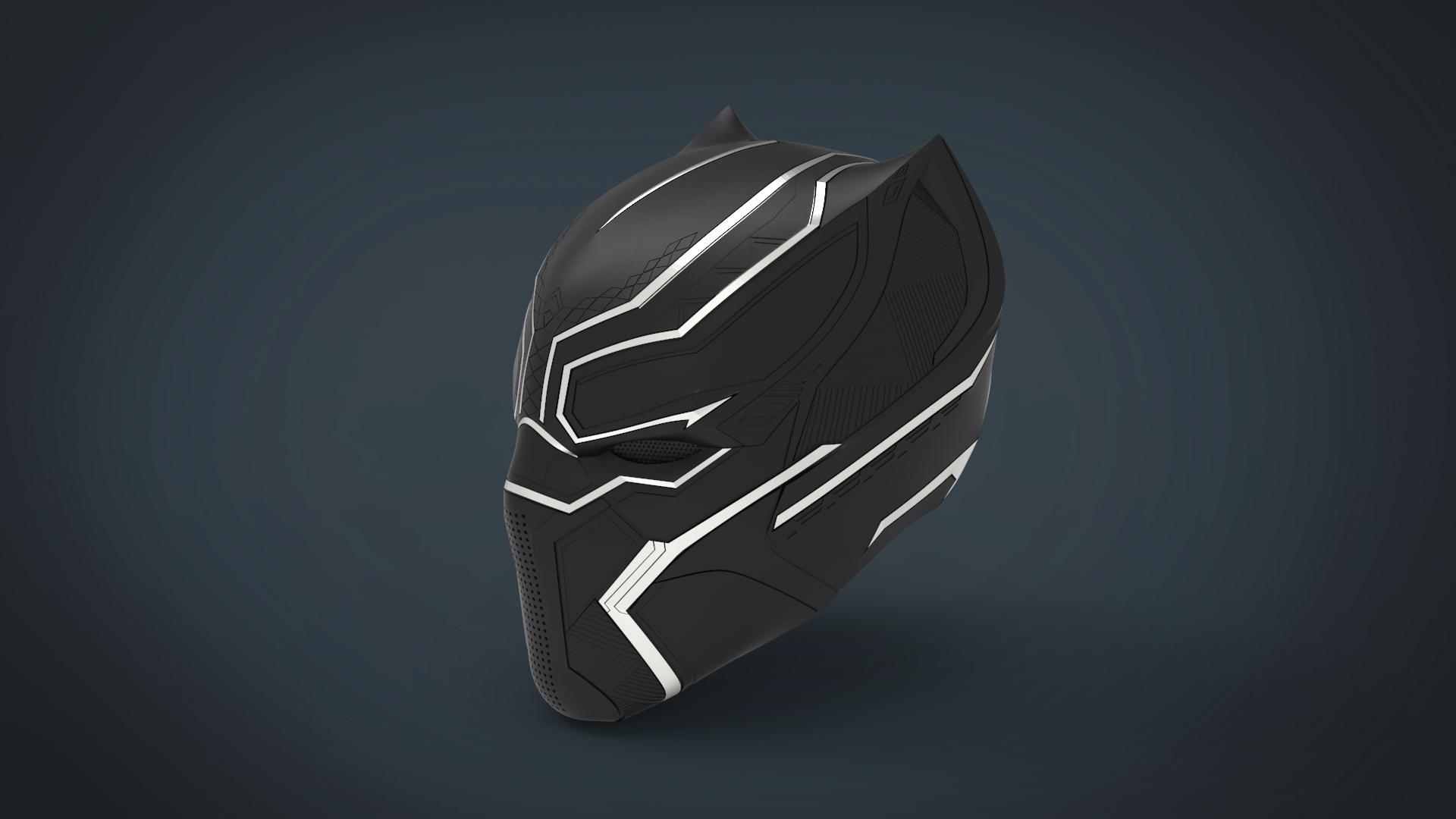 untitled.221.jpg Télécharger fichier STL gratuit Casque Panthère noire - portable grandeur nature • Plan pour imprimante 3D, Helios3D