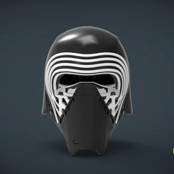 Download 3D printing files Kylo Ren Helmet - life size wearable, Helios3D