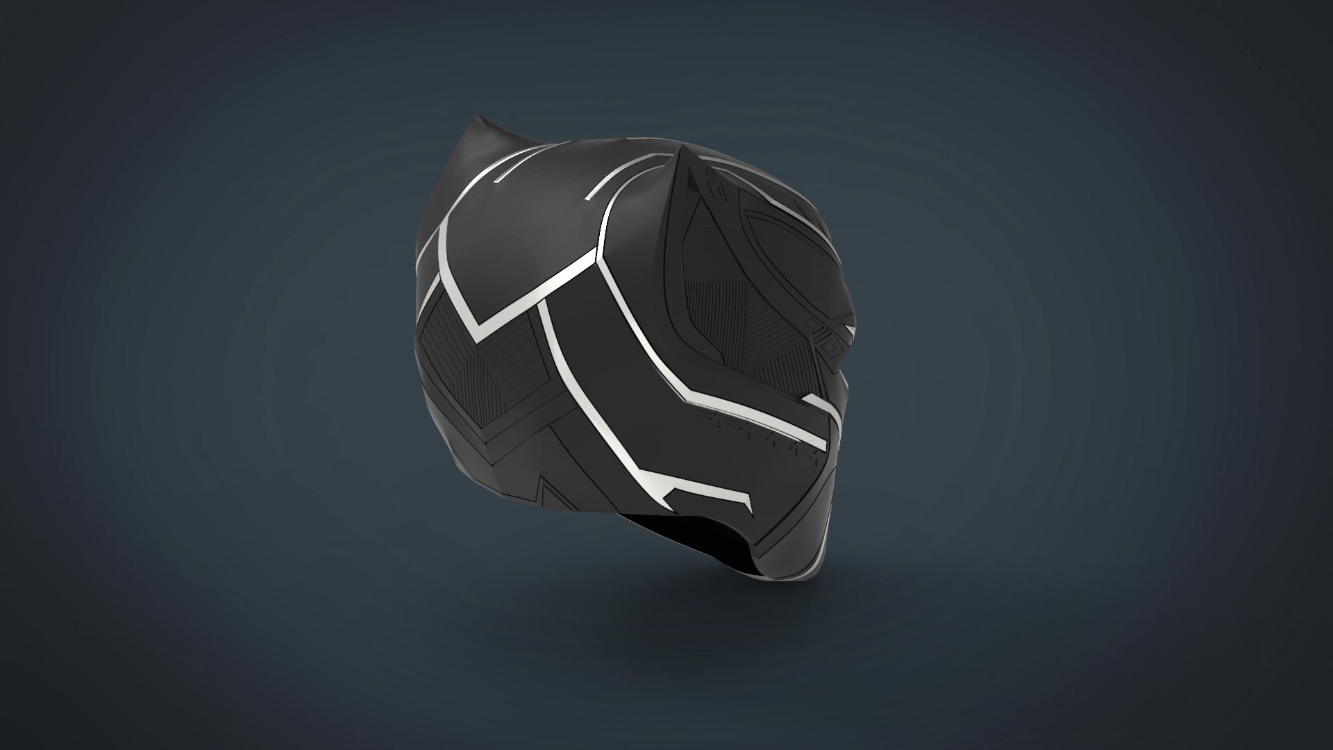 untitled.225.jpg Télécharger fichier STL gratuit Casque Panthère noire - portable grandeur nature • Plan pour imprimante 3D, Helios3D