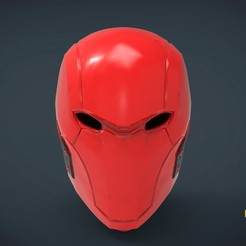 Download free 3D printer designs Red Hood Helmet - life size wearable, Helios3D