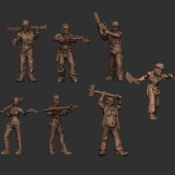 2.jpg Download STL file ZOmbie survivors Redneck survivors • 3D printing template, pipewankenobi
