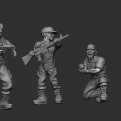 7.jpg Download STL file ZOmbie survivors desperate military survivors • 3D printer object, pipewankenobi