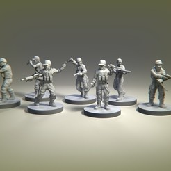 military squad survivors.156.jpg Download STL file ZOmbie survivors military survivors • 3D printing design, pipewankenobi