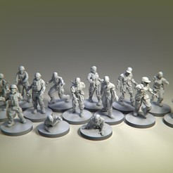 zombies.jpg Download STL file Military zombies • 3D printer object, pipewankenobi