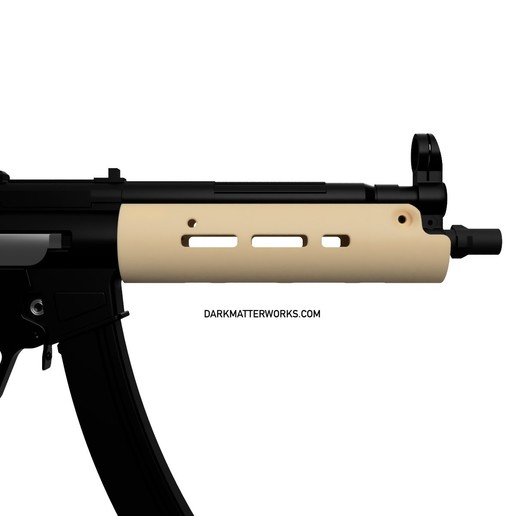 Download STL Tubular Handguard for MP5 airsoft SMG, production
