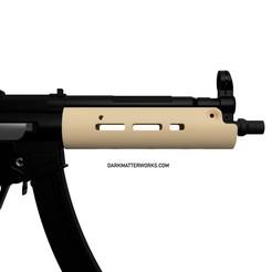 Télécharger objet 3D Protège-mains tubulaire pour MP5 airsoft SMG, production