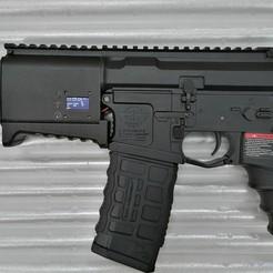 IMG_20200114_022134.jpg Télécharger fichier STL M4 AEG protège-mains court avec boîtier de piles (G&G) AIRSOFT • Design pour impression 3D, production
