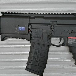 IMG_20200114_022134.jpg Download STL file M4 AEG short handguard with battery box (G&G) AIRSOFT • 3D print design, production