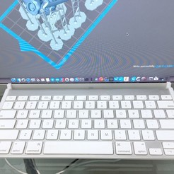 Descargar diseños 3D Gancho de Teclado Inalámbrico Apple para el Apple Cinema Display, production