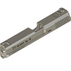 MK23-SLIDE v11.png Télécharger fichier STL MK23 SOCOM Slide airsoft TM • Plan pour impression 3D, production