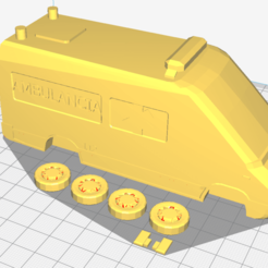 Download 3D printing files ambulance large sprinter scale 1 50, lucasjc