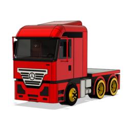1.PNG Télécharger fichier STL Modèle de camion Mercedes • Design pour impression 3D, ClawRobotics