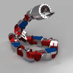 xzcsacas.png Télécharger fichier STL Modèle de robot serpent • Objet pour impression 3D, ClawRobotics