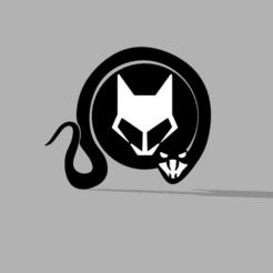 cc.PNG Télécharger fichier STL Modèle 3D du logo du loup et du serpent • Plan pour imprimante 3D, ClawRobotics