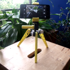 Free STL Tripod for smartphone 100% printable, Monkey3D