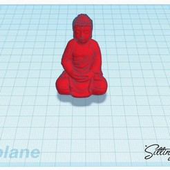 Free 3D printer model sitting buddha, stevenve
