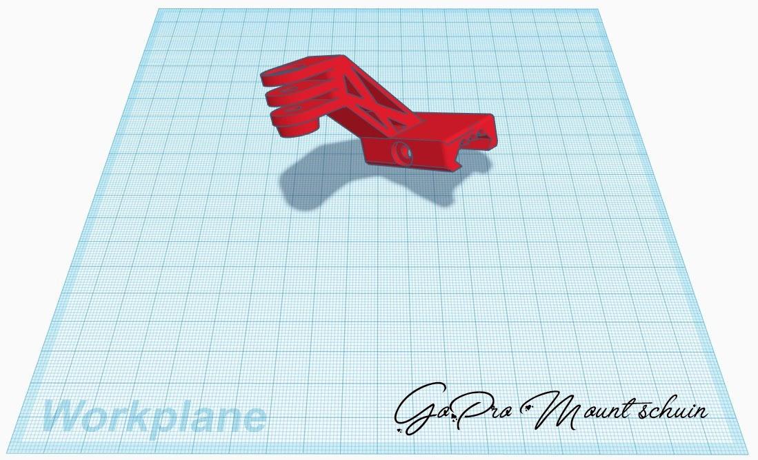GoPro Mount schuin.jpg Download free STL file Go pro ris rail mount angled • Object to 3D print, stevenve