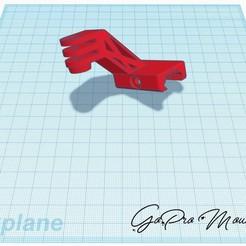 GoPro Mount schuin.jpg Télécharger fichier STL gratuit Montage sur rail Go pro ris coudé • Plan pour imprimante 3D, stevenve