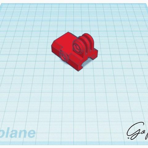 Download free 3D printing models Go pro ris rail mount, stevenve