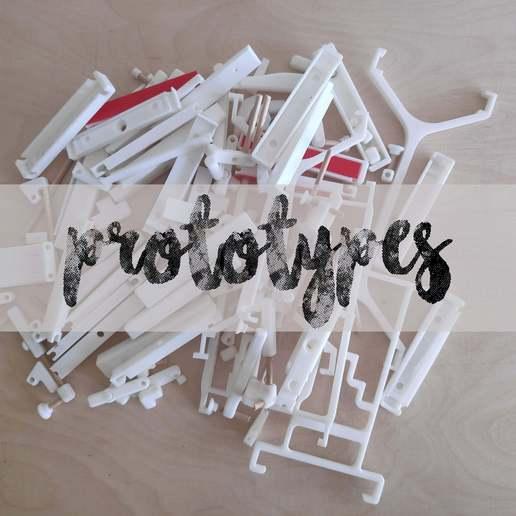 prototypes.jpg Download free STL file Kitchen Rail • Template to 3D print, MakerMind