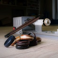 thumbnail_rings_mk2_square_smaller.jpg Download free STL file Wood Ring Turning Tool • 3D printing model, MakerMind