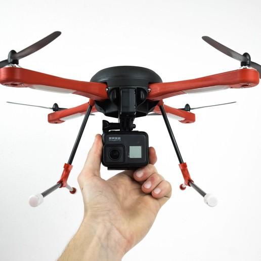 Télécharger fichier STL gratuit 100$ drone pliable (Bugs 3 Shell) Construction simple, MakerMind