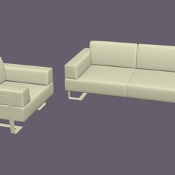 3D printing model Armchair and two-seater n.2, pendant