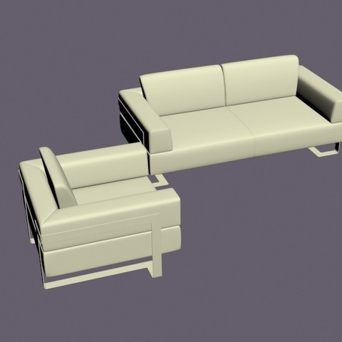 3.jpg Download OBJ file Armchair and two-seater n.2 • 3D printer template, Zorana