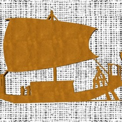 Download STL file Ancient Egyptian Boat, Zorana
