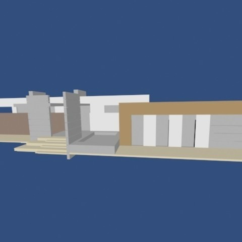 2.jpg Download OBJ file Modern house • 3D printable template, Zorana