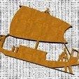 Modelos 3D para imprimir Antiguo barco egipcio, pendant