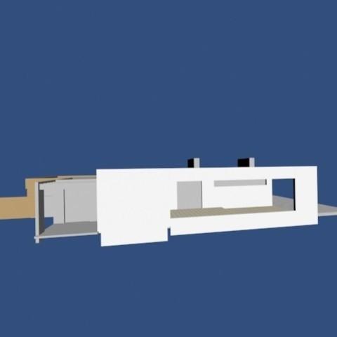 3.jpg Download OBJ file Modern house • 3D printable template, Zorana