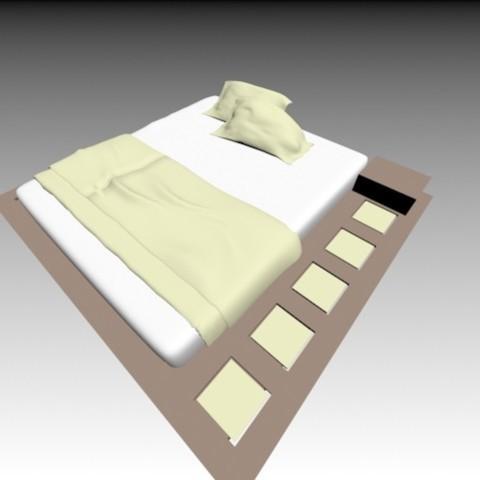 Descargar modelos 3D Cama doble, pendant