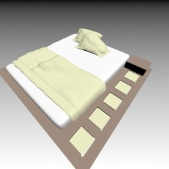 3d print files Double bed, pendant